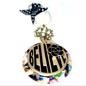 Hand Crafted Accessories - BELIEVE Pearl & Polka Keychain